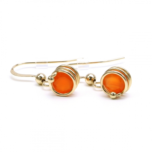 Earrings for women - Busted Gemstone Deluxe Carnelian