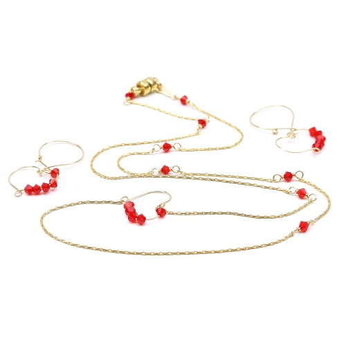 Necklace and earrings set for women - Sweet Love