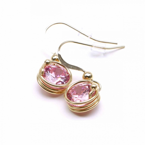 Dangle earrings by Ichiban - Busted Light Rose
