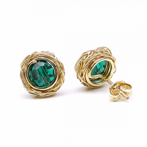 Stud earrings by Ichiban - Sweet Emerald