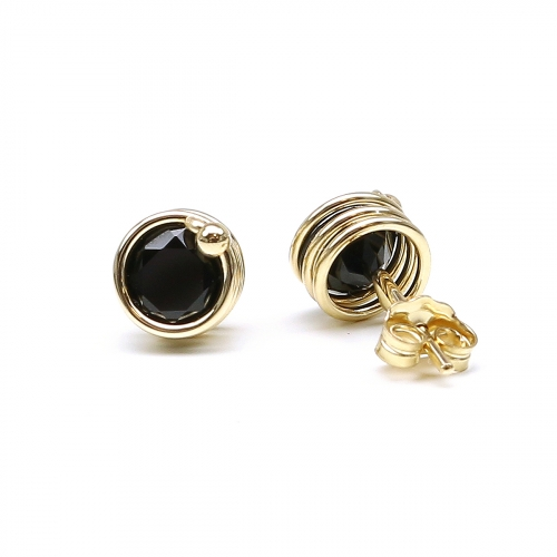 Stud earrings by Ichiban - Busted Deluxe Black Spinel