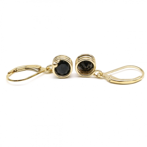 Leverback earrings by Ichiban - Busted Deluxe Black Spinel
