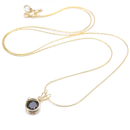 Gemstone pendant for women - Busted Deluxe Black Spinel