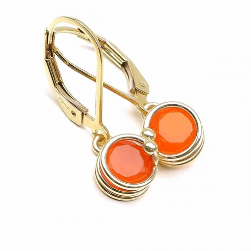 Leverback earringsby Ichiban - Busted Deluxe Carnelian