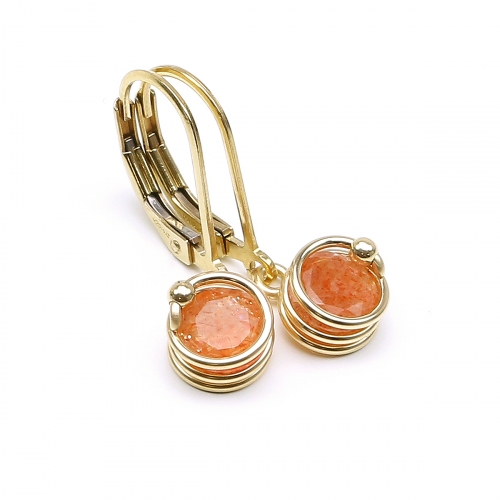 Leverback earrings by Ichiban - Busted Deluxe Sun Stone