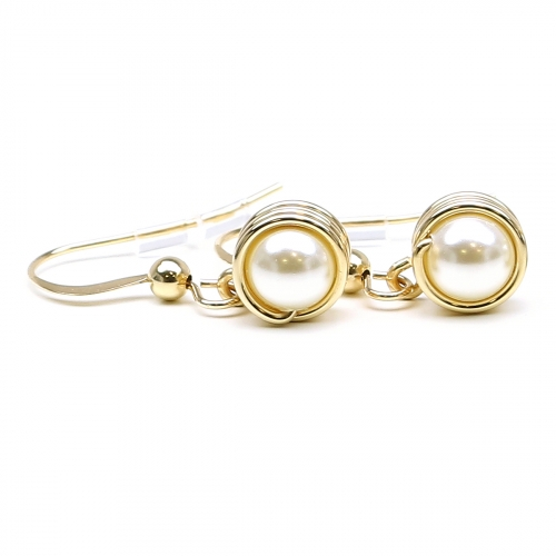 Swarovski pearls earrings for women - Busted Pearls Cream