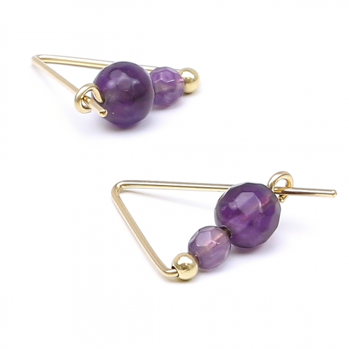 Earrings by Ichiban - Fancy Amethyst