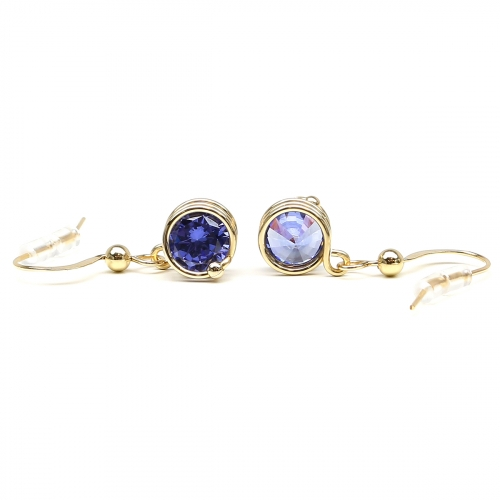 Dangle earrings by Ichiban - Busted Tanzanite