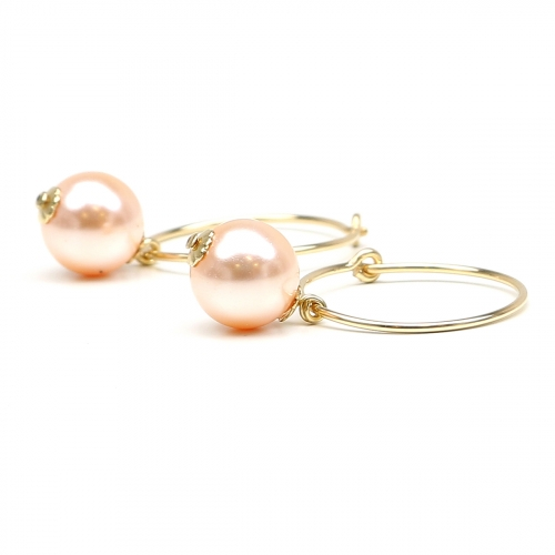 Earrings by Ichiban - Circle Peach