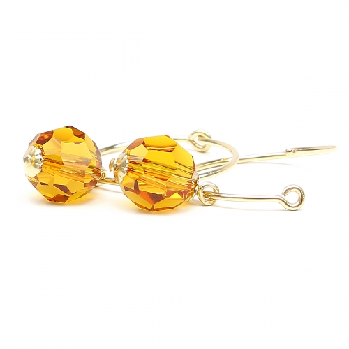 Earrings by Ichiban - Circle Crystal Topaz
