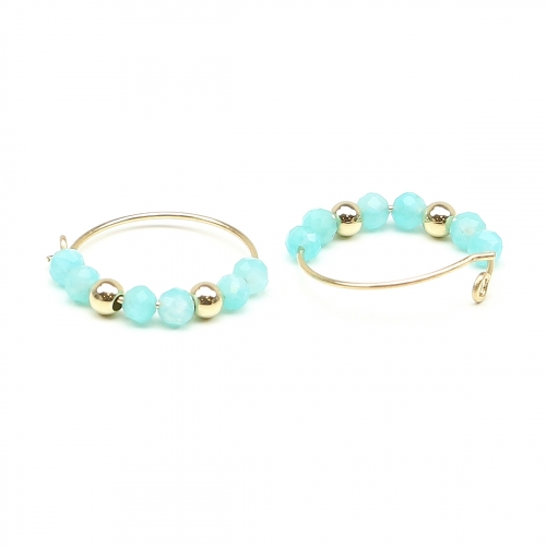 Earrings by Ichiban - Simple Style Amazonite 14K gold