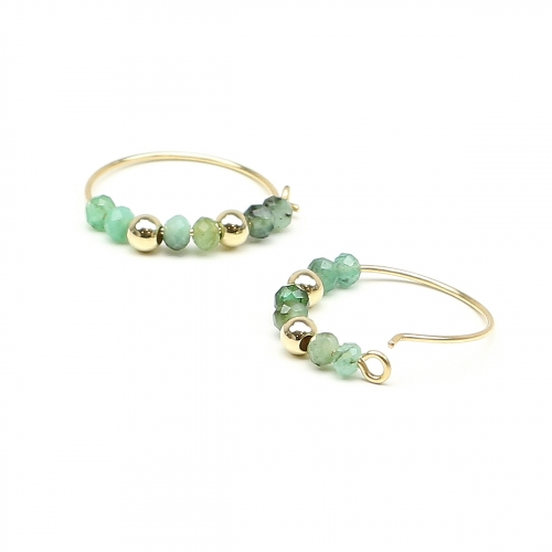 Earrings by Ichiban - Simple Style Emerald 14K gold