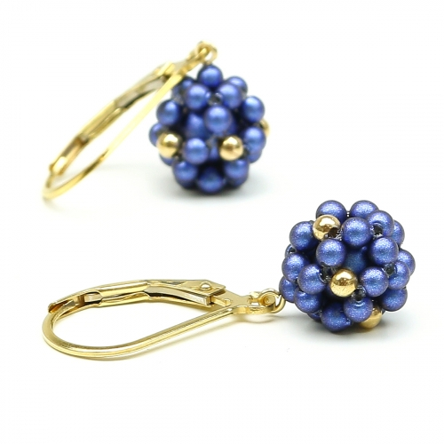 Leverback earrings by Ichiban - Blue Berry