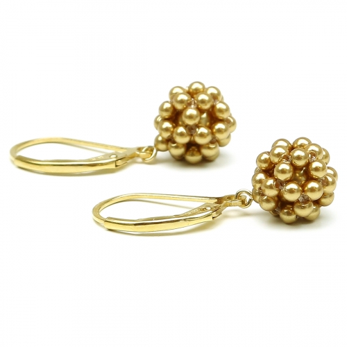 Leverback earrings by Ichiban - Gold Berry