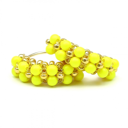 Earrings by Ichiban - MiniDiva Pearls Neon Yellow