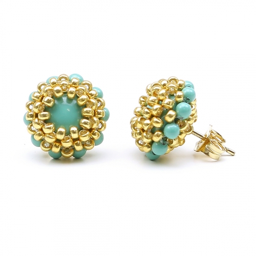 Stud earrings by Ichiban - Teeny Tiny Jade