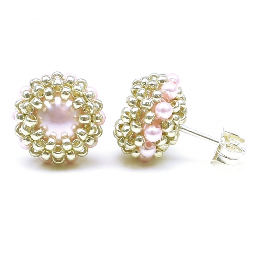 Stud earrings by Ichiban - Teeny Tiny Rosaline AG925