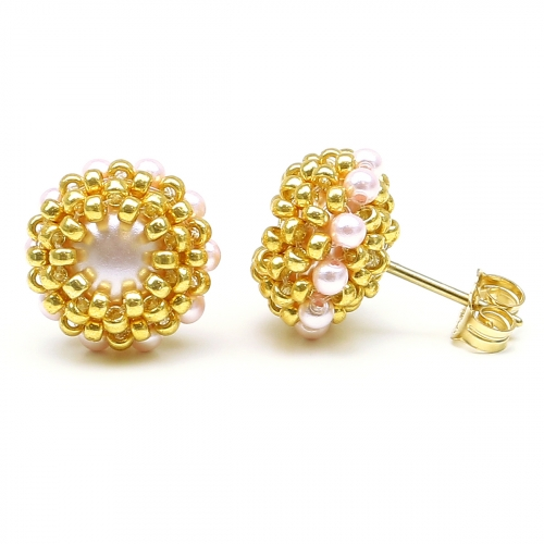 Stud earrings by Ichiban - Teeny Tiny Rosaline