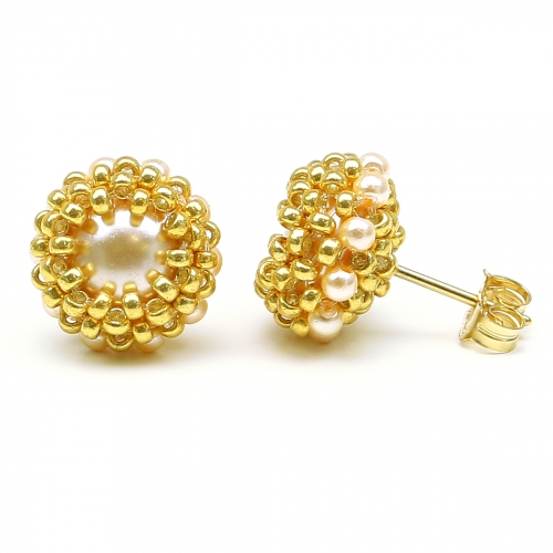 Stud earrings by Ichiban - Teeny Tiny Peach