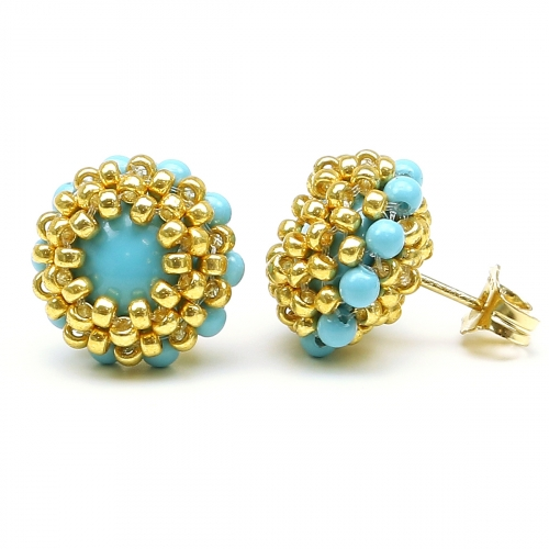 Stud earrings by Ichiban - Teeny Tiny Turquoise