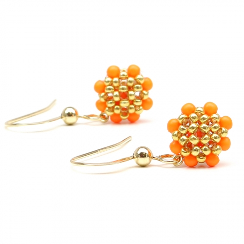 Dangle earrings by Ichiban - Teeny Tiny Neon Orange