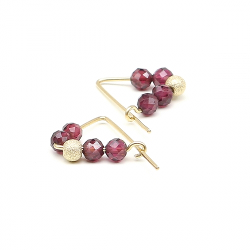 Earrings by Ichiban - Fancy Garnet 14K Gold
