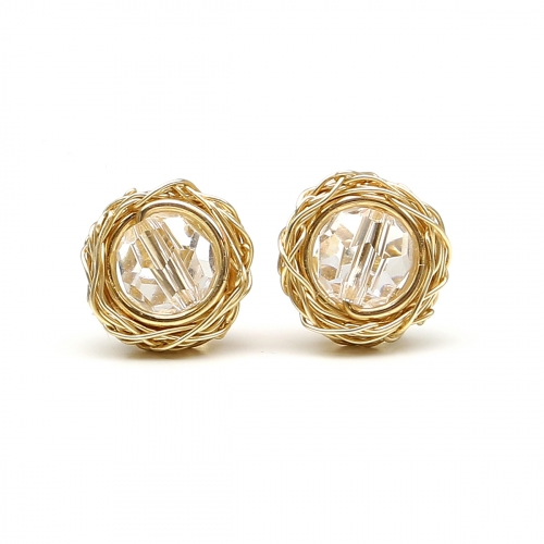 Stud earrings by Ichiban - Sweet Crystal Clear