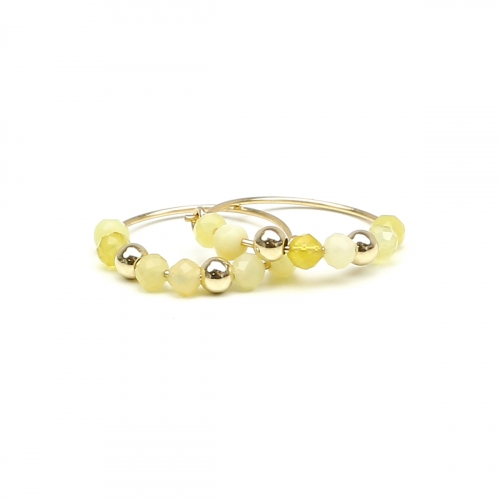Cercei Ichiban - Simple Style Yellow Opal AUR14 K